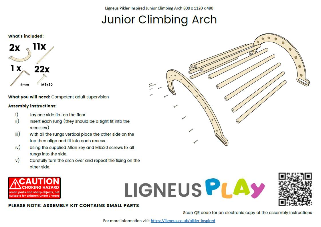 Junior Climbing Arch Assembly Guide