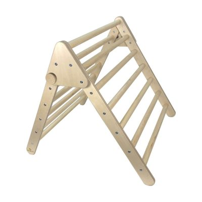 Junior Pikler Inspired Climbing Triangle Natural