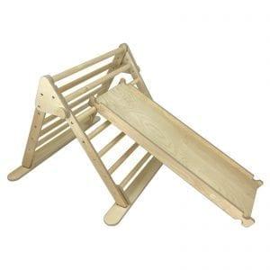 Ligneus PLAY Junior Pikler Triangle Natural and Junior Climb n Slide
