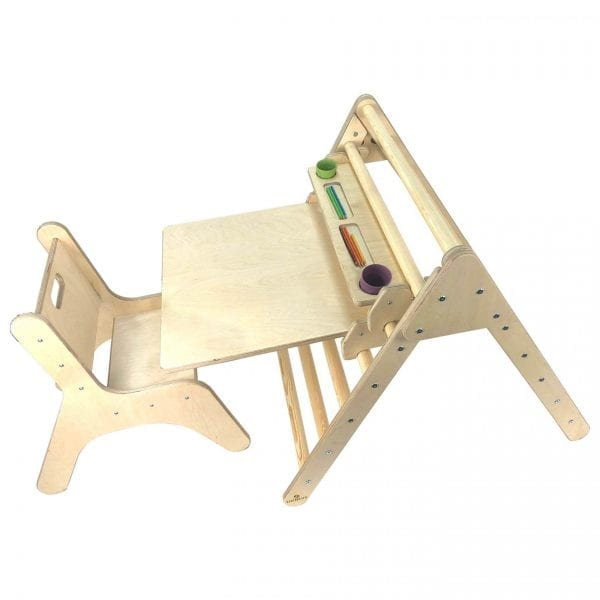 Junior Pikler Inspired Desk Set Natural