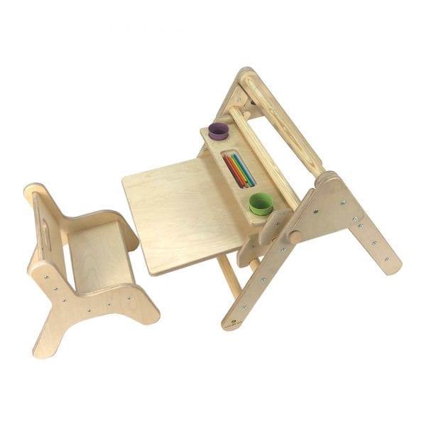 Nursery Pikler Inspired Desk Set Natural