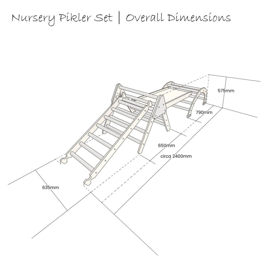 Nursery Pikler Set Schematic