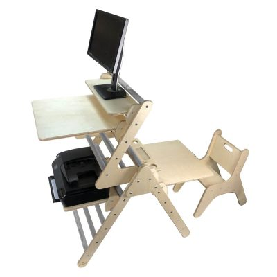 Senior Pikler Desk set with junior desk Gretton Grey