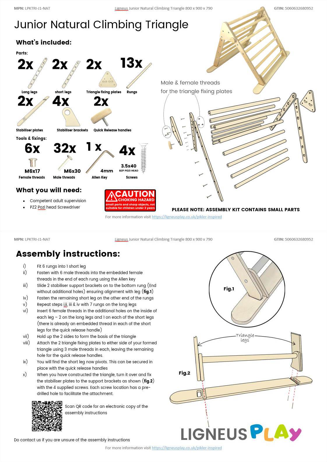 Junior Climbing Triangle Assembly Guide