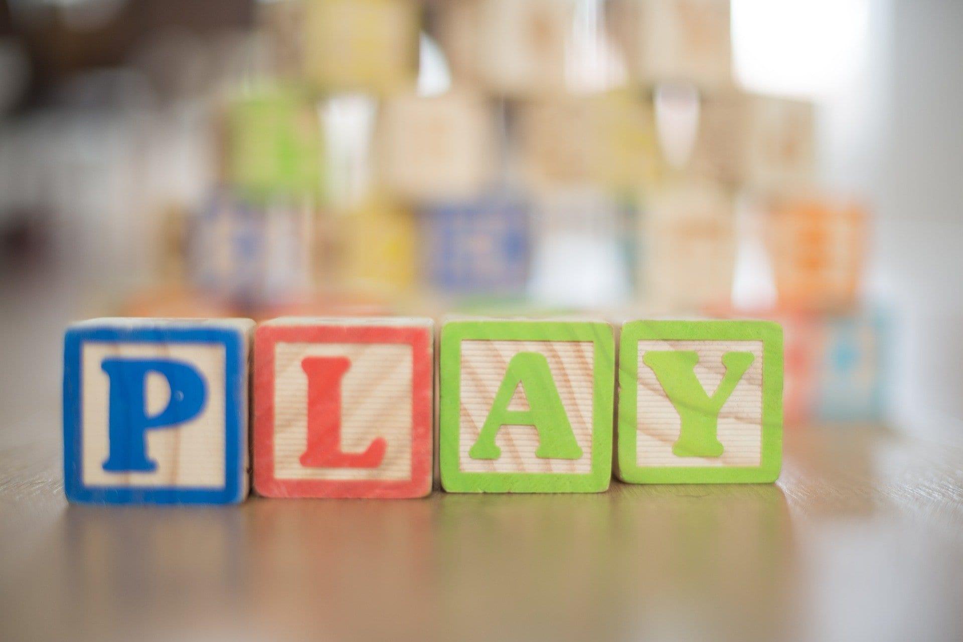 Kids Letter Blocks Play