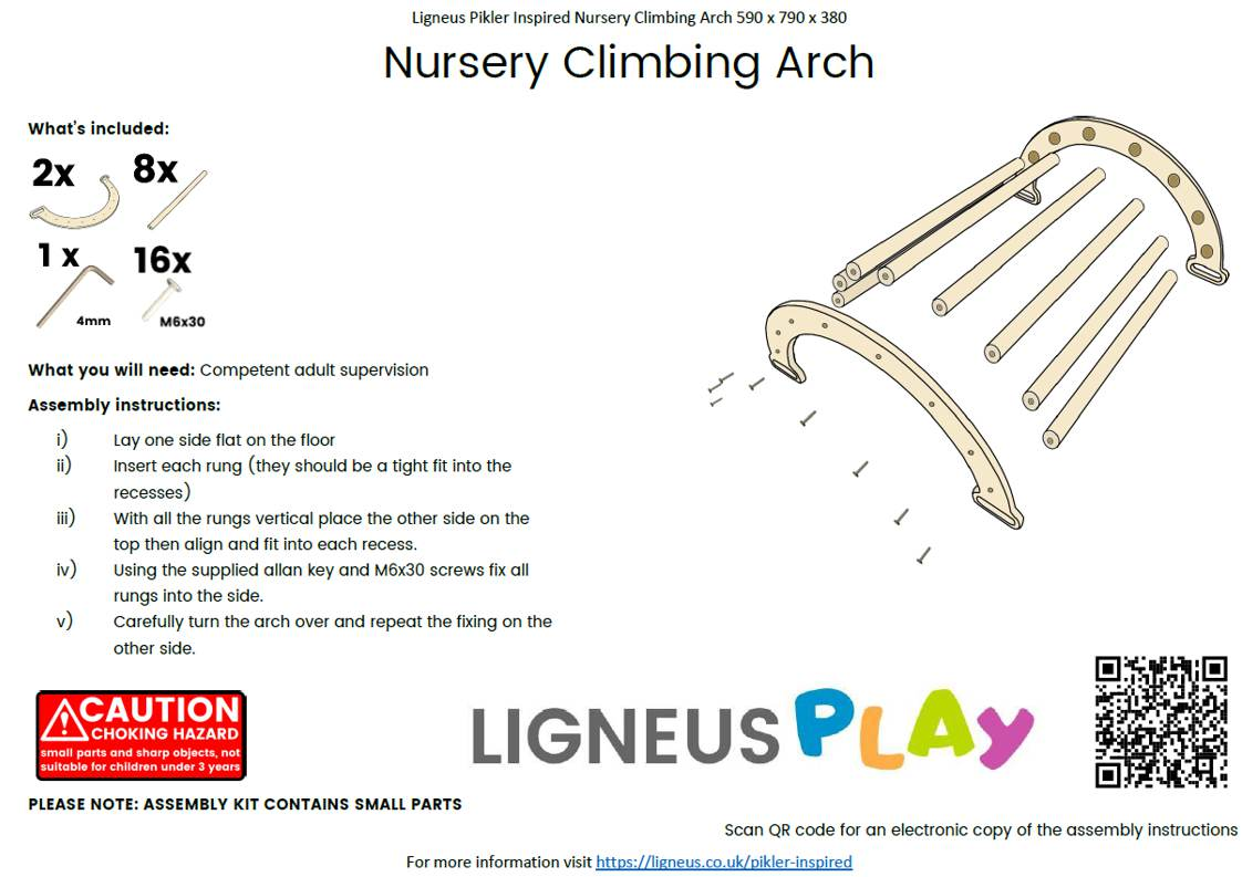 Nursery Climbing Arch Assembly Guide