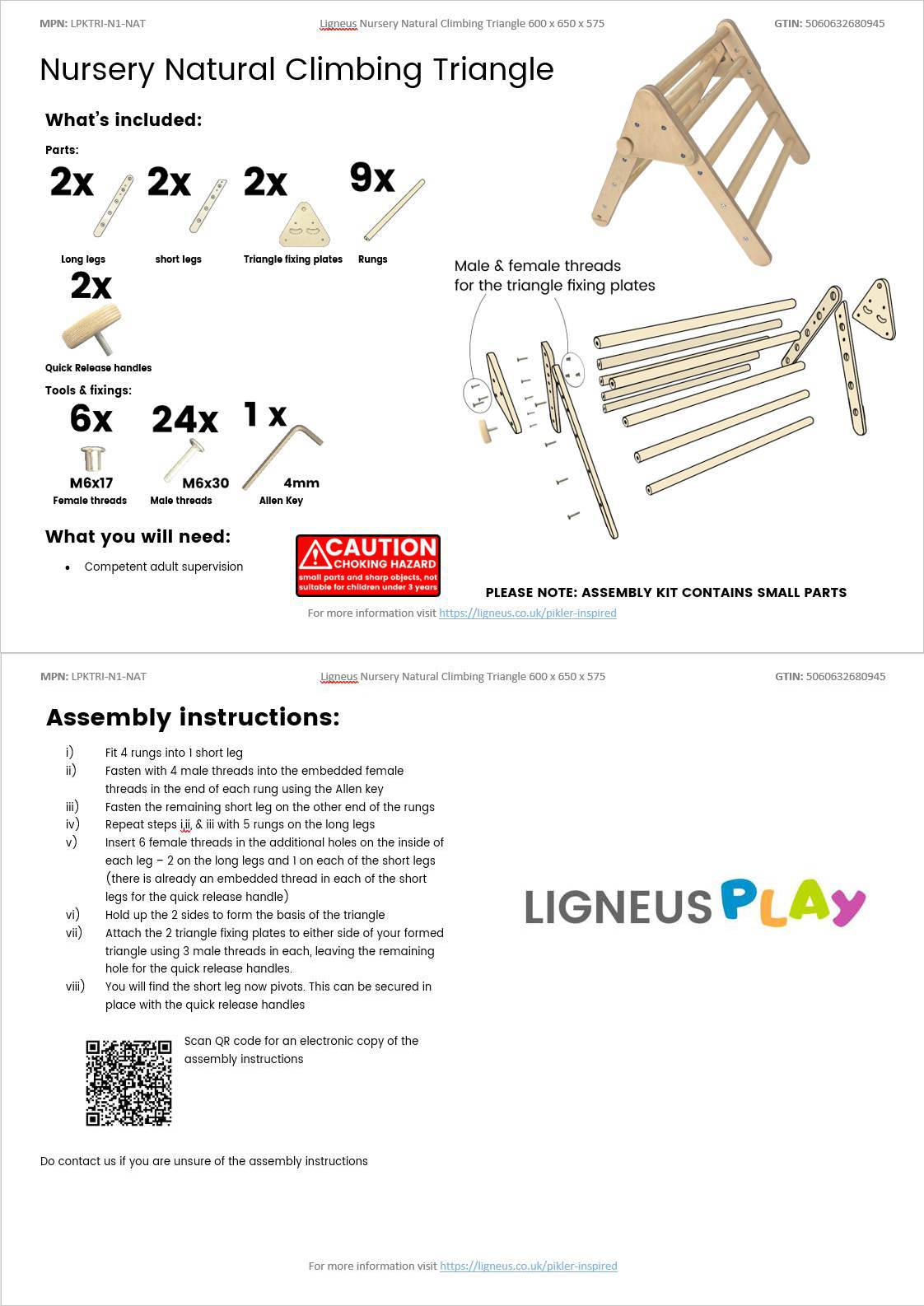Nursery Climbing Triangles Assembly Guide