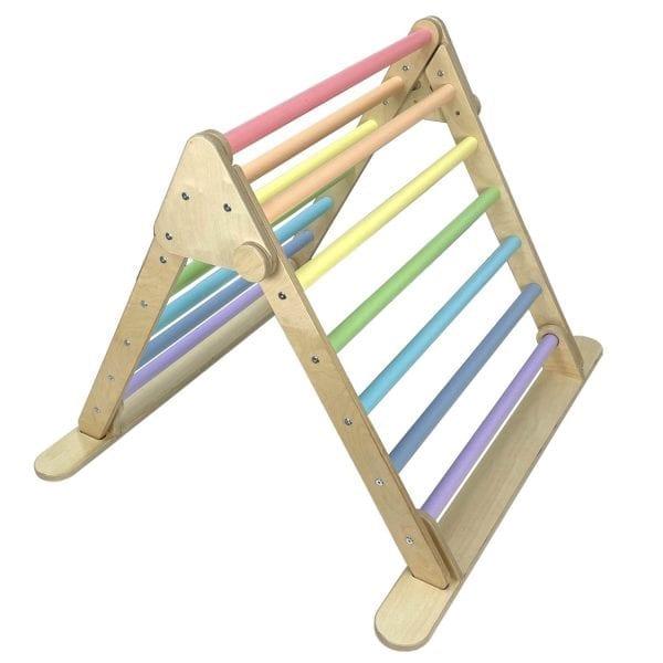 Junior Ligneus Play Pikler Triangle Pastel Rainbow