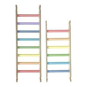 Ligneus PLAY Pikler Climbing Ladders Pastel Rainbow