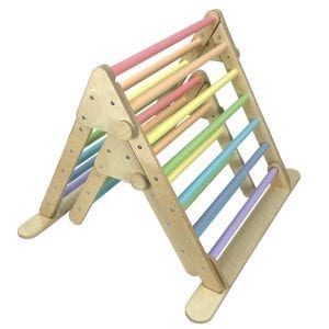 Nested Ligneus Play Pikler Triangles Pastel Rainbow