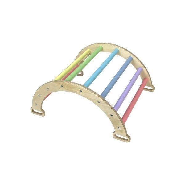 Nursery Ligneus PLAY Pikler Climbing Rocker Arch Pastel Rainbow