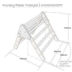 Nursery Pikler Triangle Schematic