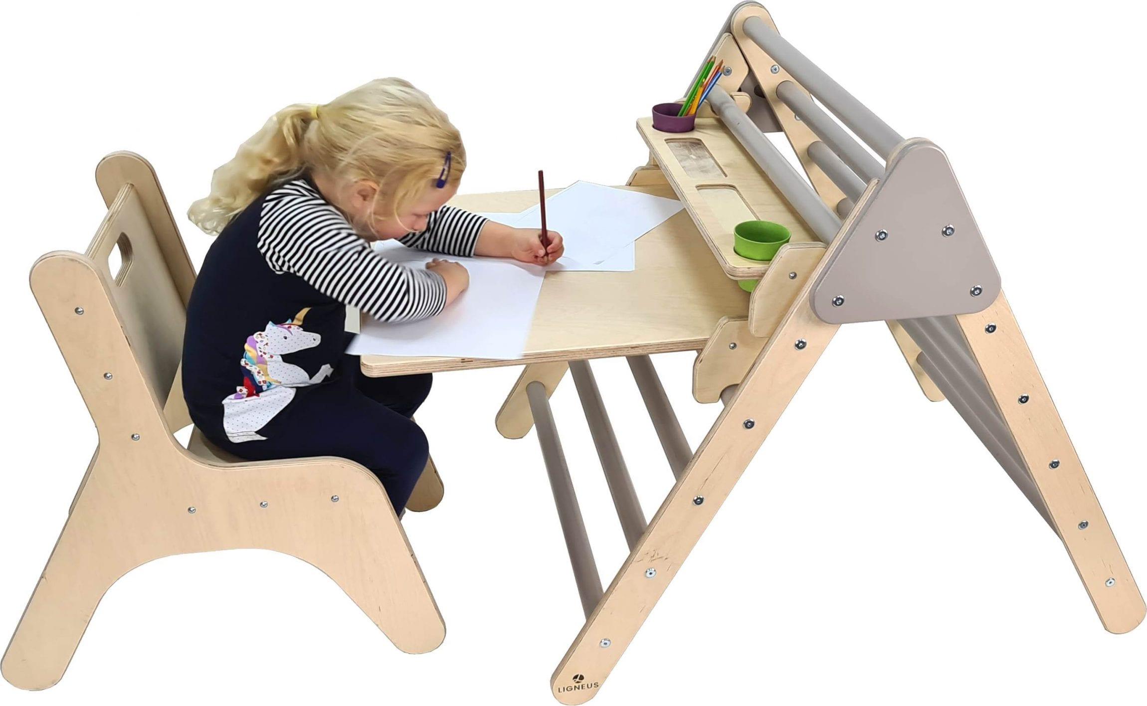 Thea drawing at Junior Pikler Desk Set Gretton Grey