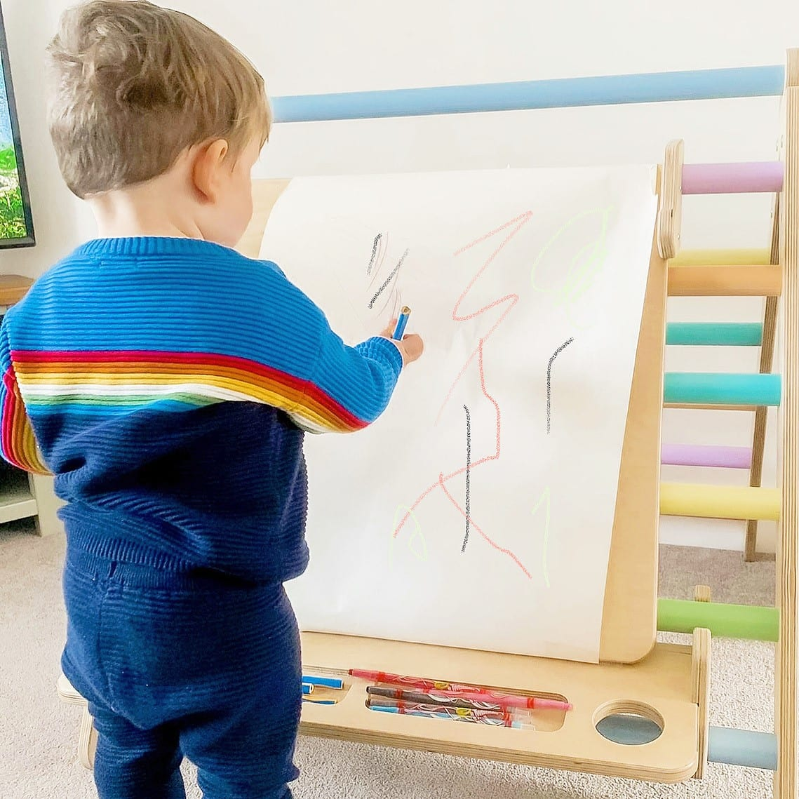 Toddler at Easel Triangle