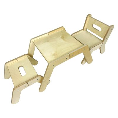 Nursery Single Activity Table Set with chair and stool