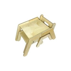 Nursery Single Activity Table Set with chair and stool tucked in