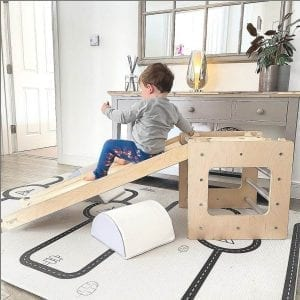 activity cube as indoor slide