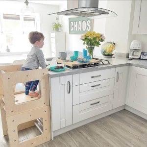 activity cube as kitchen helper