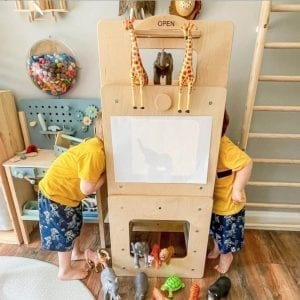 activity cube as puppet theatre